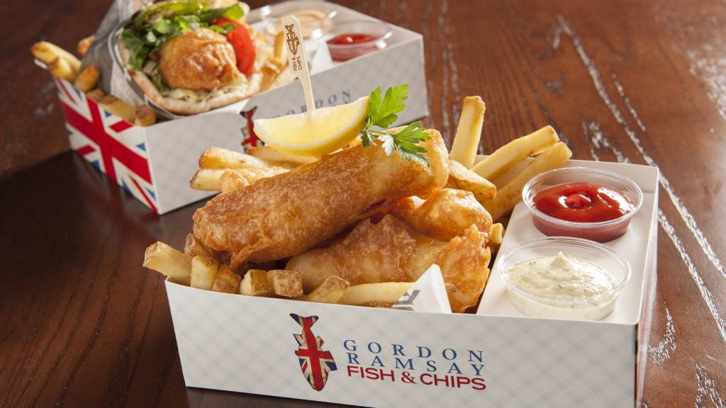 Gordon ramsay fish chips now open at the linq promenade ccuart Gallery