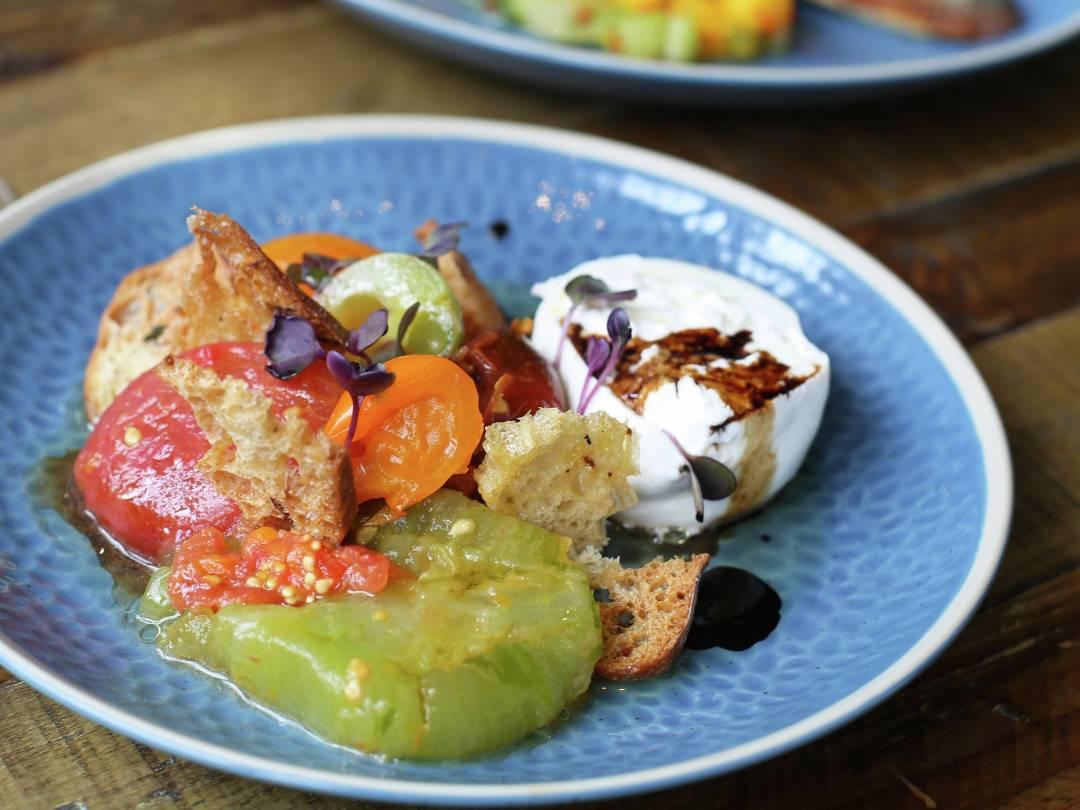 18+ Burrata with Miso Marinated Tomatoes   Vegetarian Salads   Gordon ... Kollektion