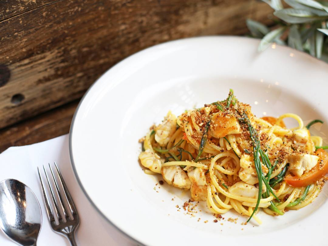 Gurnard Pasta Dish with Breadcrumbs 2000px