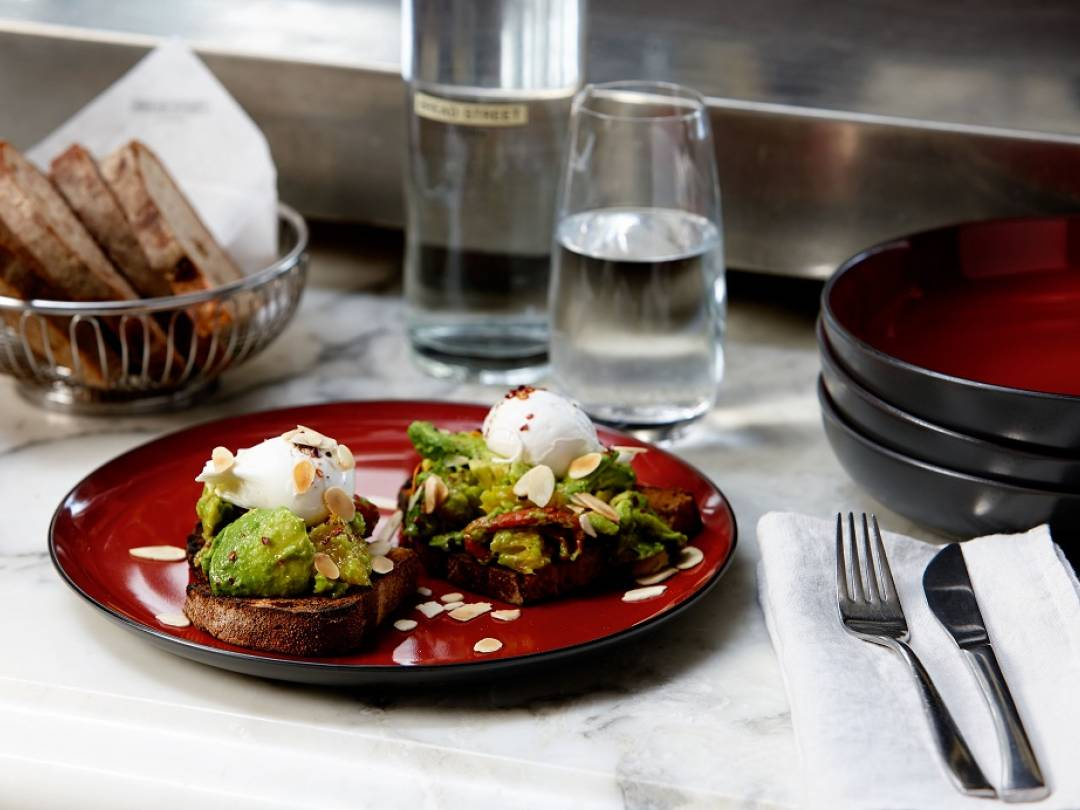 Avocado on Toast with Poached Eggs
