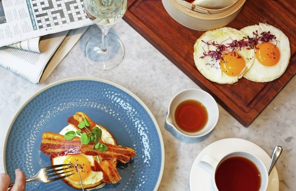 mg bOTTOMLESS bRUNCH EGGS AND BAO BUNS