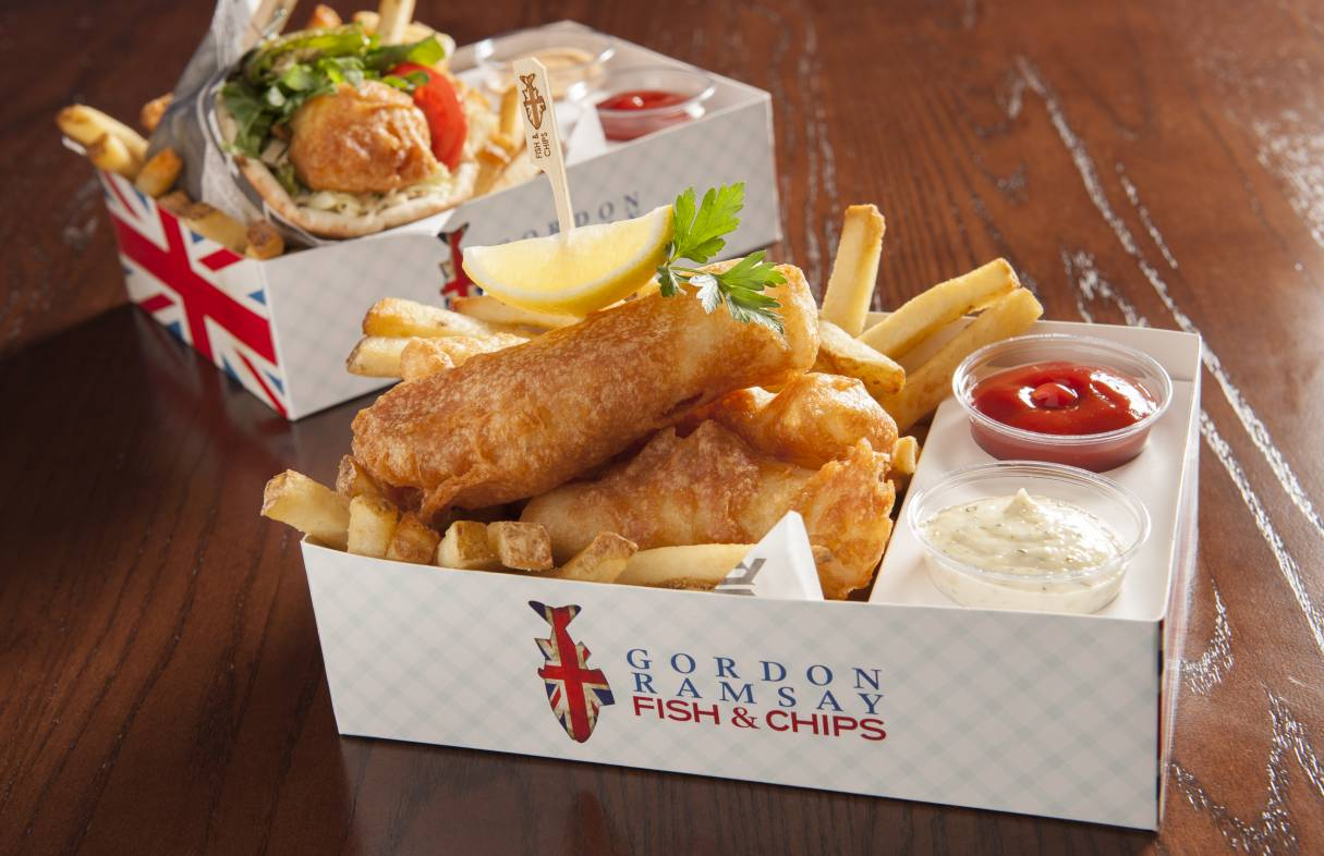 Gordon Ramsay Fish Chips Las Vegas Gordon Ramsay Restaurants