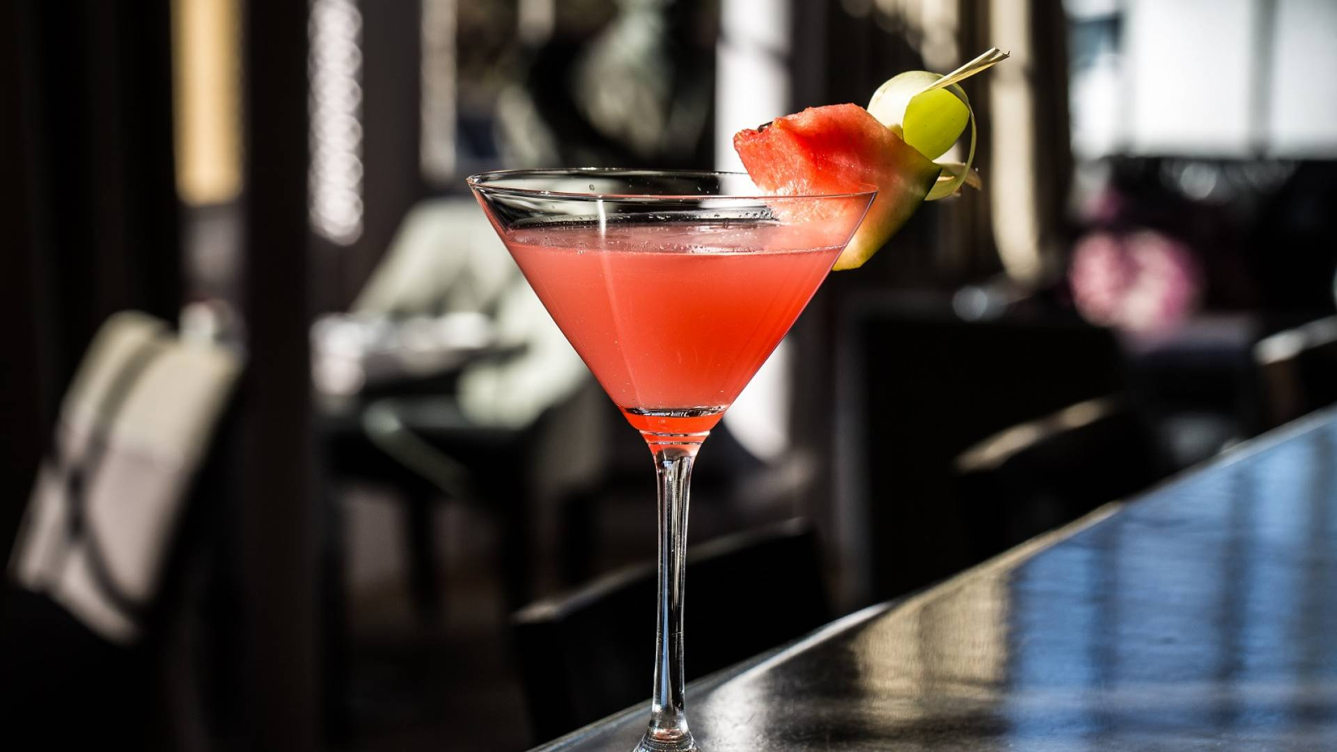 Watermelon and lemongrass martini 2