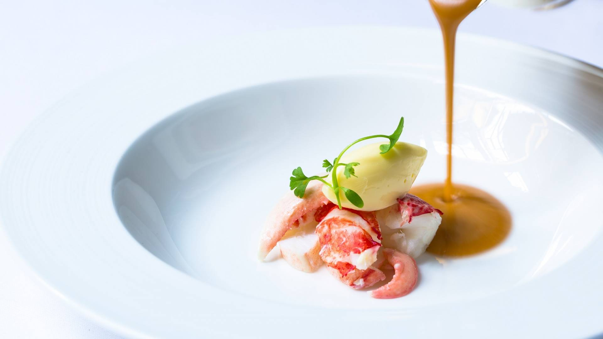 Lobster and Cornish crab bisque with brandy butter 5 web