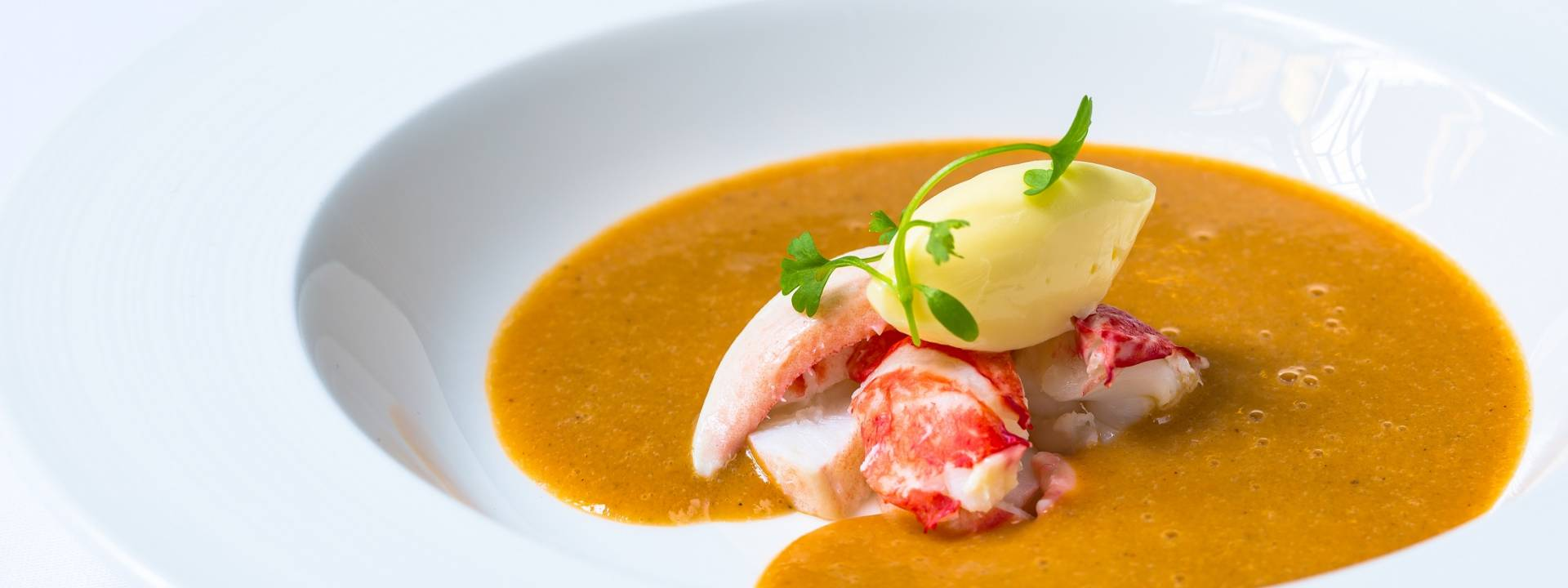 Lobster and Cornish crab bisque with brandy butter 3 web