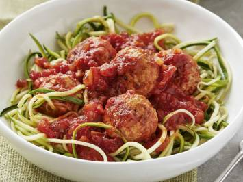 Courgetti Spaghetti With Meatballs