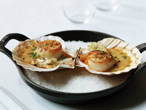 4 Baked Orkney scallops
