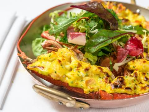 Grilled native lobster thermidor or garlic butter 7 web