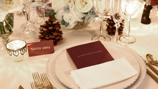 Savoy Weddings place setting