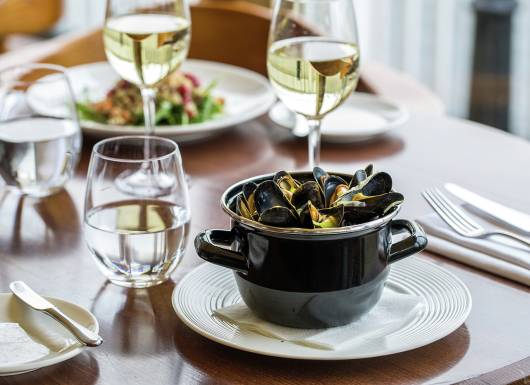 Mussels leek cream and Aspall cider final