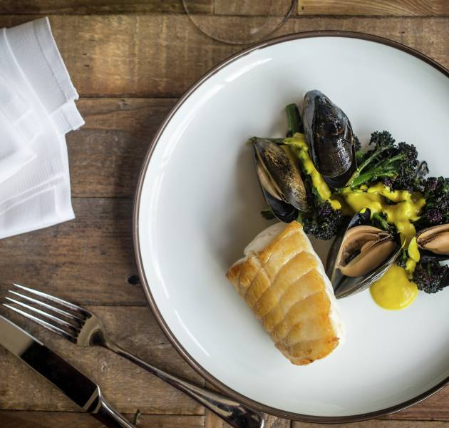 vb610945 roasted monkfish charred purple sprouting curried mussels 4