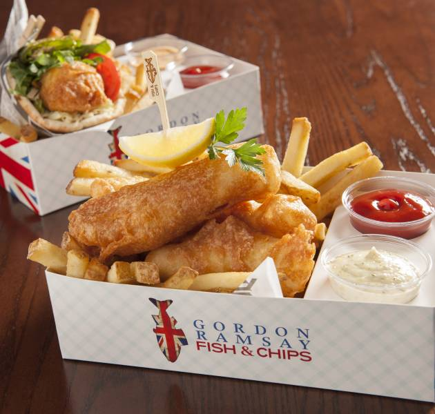 Gordon Ramsay Fish Chips Las Vegas Gordon Ramsay