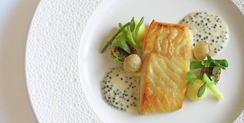 Petrus fish dish with samphire TABLET