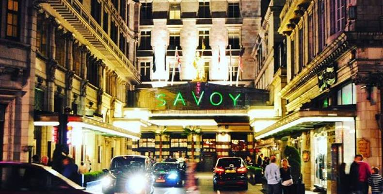 Savoy Grill Exterior
