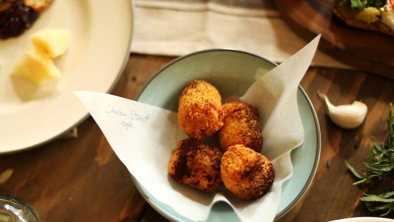 Olive grove croquette harvest dinner