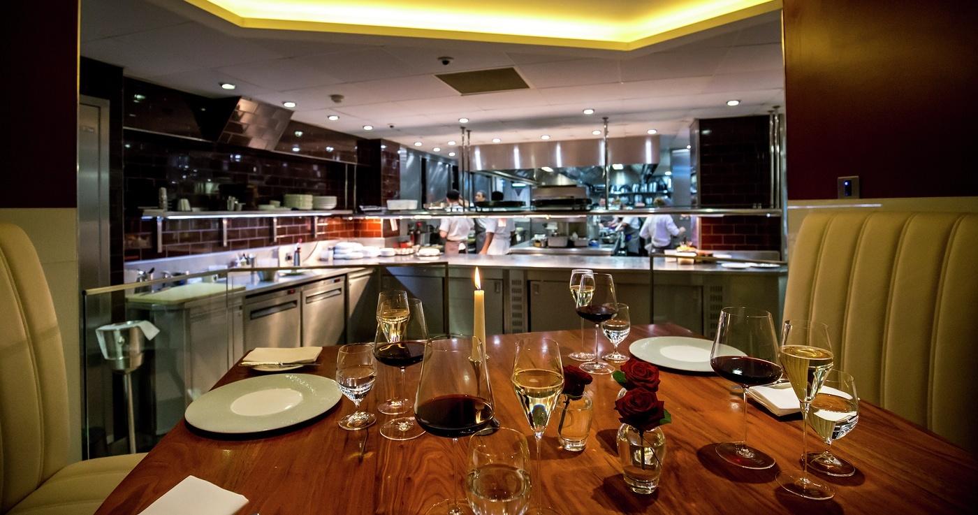 Gordon Ramsay Petrus Kitchen Table